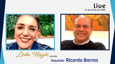 COM A PALAVRA O EX MINISTRO DA SAUDE DEPUTADO RICARDO BARROS