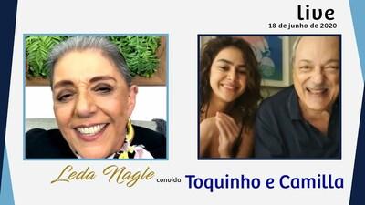 CANTOR E COMPOSITOR TOQUINHO E A CANTORA CAMILLA FAUSTINO | LEDA NAGLE