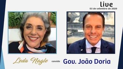 COM A PALAVRA O GOVERNADOR JOÃO DORIA JUNIOR | LEDA NAGLE